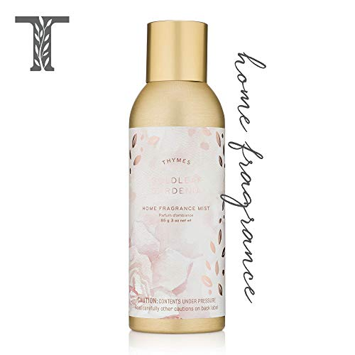 Leaf Mist Fragrance Home - Thymes - Goldleaf Gardenia Home Fragrance Mist - Light Floral Scented Room Spray - 3 oz