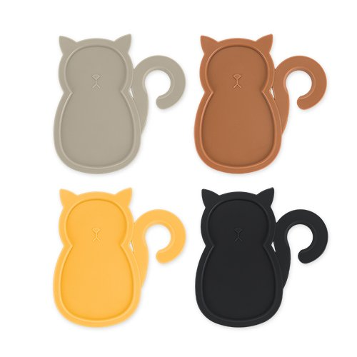 - Cat Party Plates (Set of 4) Cocktail Buffet Plates beverage holder with Wine Stem Holder Multicolored by TrueZoo