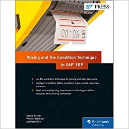 Amazon com: SAP Pricing and the Condition Technique in SAP ERP (SAP