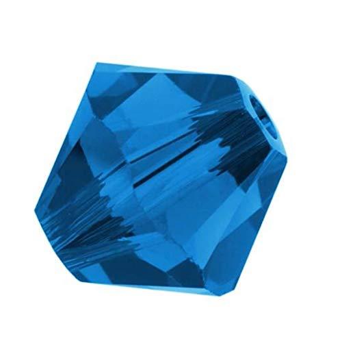 100pcs 4mm Adabele Austrian Bicone Crystal Beads Capri Blue Compatible with Swarovski Crystals Preciosa 5301/5328 SSB425