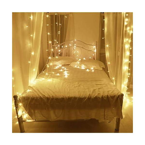 Uping Catena Luminosa Stringa di Luci 300 LED, per Festa Giardino Natale Halloween Matrimonio(Bianca Calda) 3 spesavip