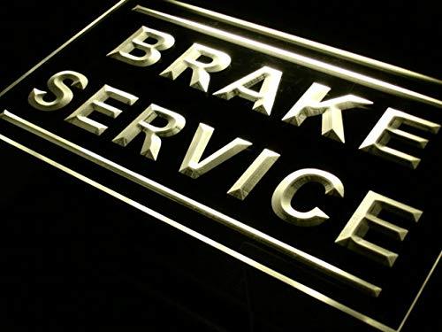 - ADVPRO Brake Service Car Repair Shop LED Neon Sign Yellow 24