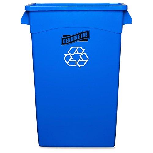 Genuine Joe GJO57258 Recycling Rectangular Container, 23 gallon Capacity, 22-1/2