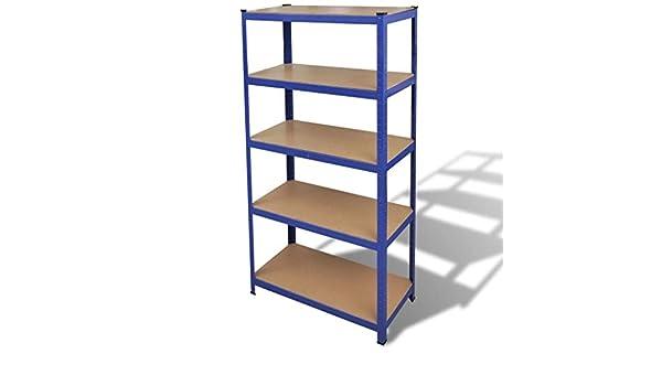 binzhoueushopping Estructura con estanterías para el Garaje Azul estanterías Bodega: Amazon.es: Hogar