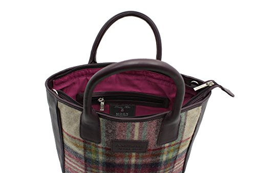 40 Cuir Tweed Noir Et Abertweed Leather Collection 728 En Mala Prune Grab Sac CBvSPqw