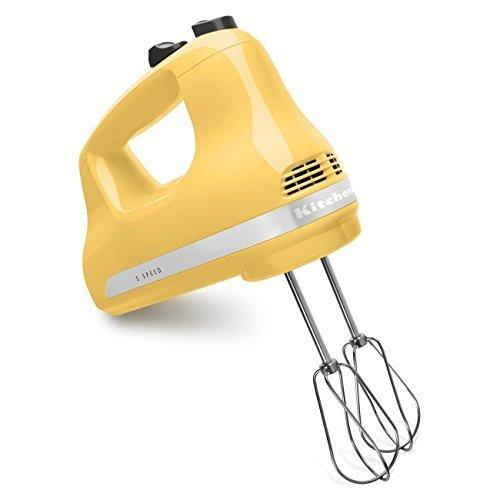 KitchenAid KHM53my 5-Speed Ultra Power Hand Mixer Majestic - Kitchen Yellow Mixer Aid