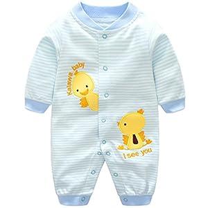 Minizone Bambina Pagliaccetti del bambino Ragazzi Onesies cotone Tuta a maniche lunghe tuta pigiama, 10