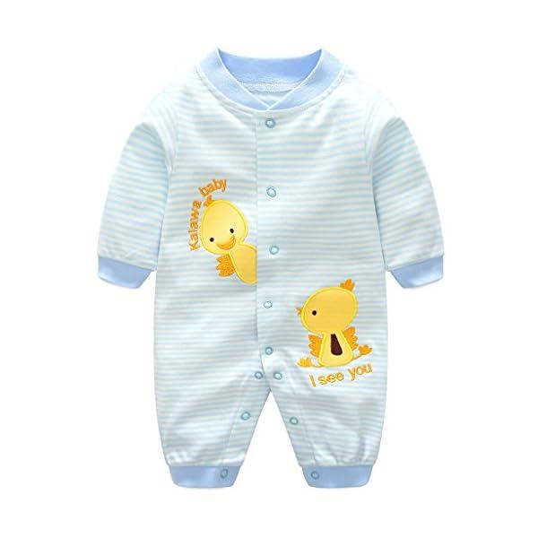 Bambino Pagliaccetto in Cotone Ragazze Ragazzi Pigiama Neonato Tutina Fumetto Outfits 1