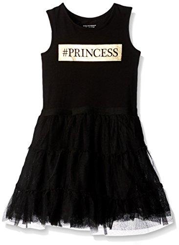 ragazze Abbigliamento Maniche A Bambini File 7152 Casual Dei Nero Vestito Baby Sua Li'l Ricamo W Luogo Della PtnxqO8