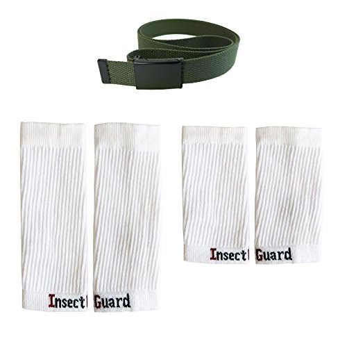 InsectGuard Permethrin Treated Tick & Mosquitoes Insect Repellent Complete Package 3 (Green/White XW) ()