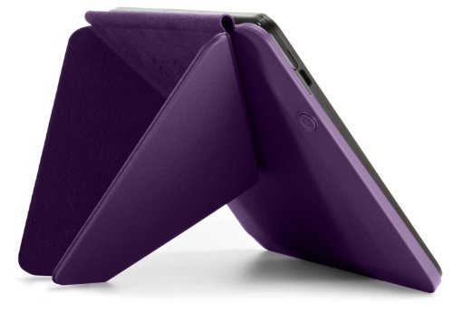 """Amazon Kindle Fire HDX Standing Polyurethane Origami Case (will only fit Kindle Fire HDX 7""""), Purple"""