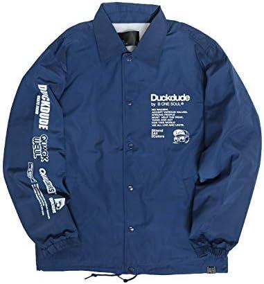 DUCK DUDE コーチジャケット ダックデュード ナイロンジャケット 袖プリント アヒル ロゴ フォトプリント ジャケット