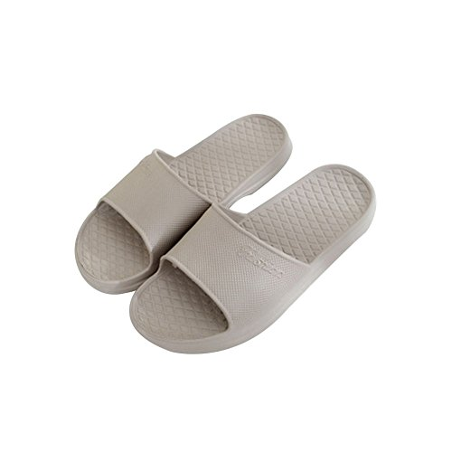 TELLW Simple non-slip Bathroom slippers women home wear-resistant slippers Gray bwO8E8UNXC
