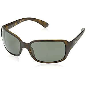 Ray-Ban Women's Rb4068 RB4068 Polarized Square Sunglasses, MATTE HAVANA, 60 mm