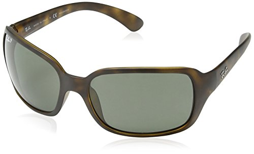 Ray-Ban Women's Rb4068 RB4068 Polarized Square Sunglasses, MATTE HAVANA, 60 mm by Ray-Ban