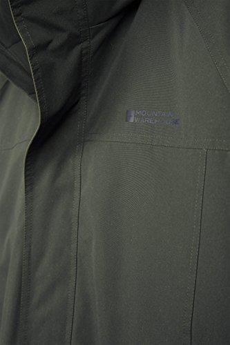 capa Caqui Mountain una más la Westport ajustable del Mens dobladillo larga invierno hidrófuga Warehouse Mens de larga Chaqueta de capa longitud bolsillos fPxSq1fA