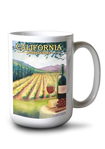 Lantern Press California - Wine Country (15oz White Ceramic Mug)