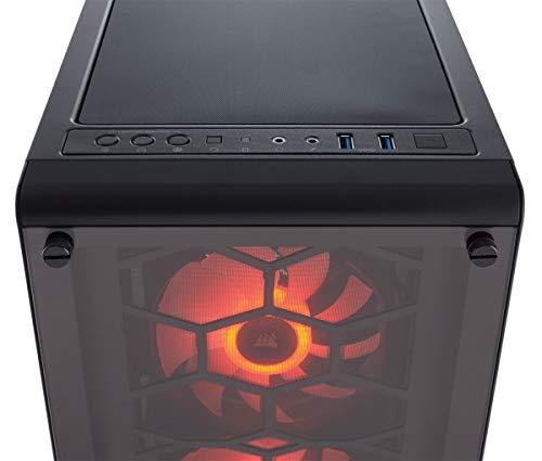 Corsair Crystal 460X RGB Case da Gaming, Mid-Tower ATX Compatto, RGB LED, Nero