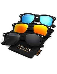 Polarized Sunglasses for Men and Women | Matte Finish Sun glasses | Color Mirror Lens | 100% UV Blocking