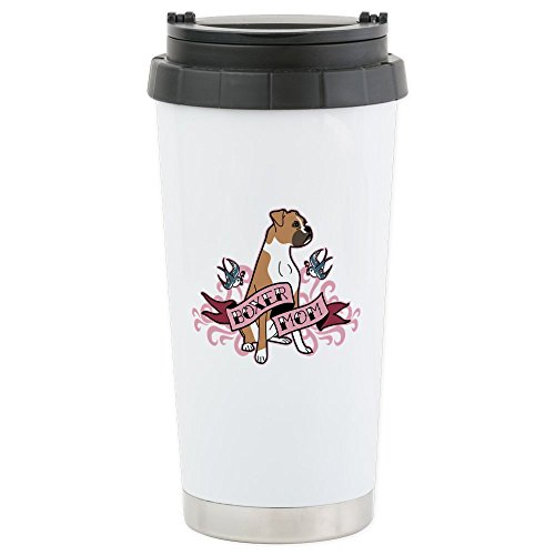 CafePress - Boxer Mom Tattoo - Stainless Steel Travel Mug, Insulated 16 oz. Coffee Tumbler
