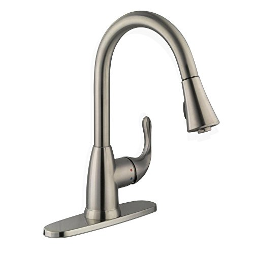 Glacier Bay 67551-0308D2 Market Single-Handle Pull-Down Sprayer Kitchen Faucet in Stainless Steel ()