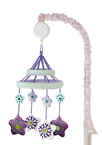 Carter's Zoo Jungle/Safari Floral Musical Mobile, Lavender/Aqua/White