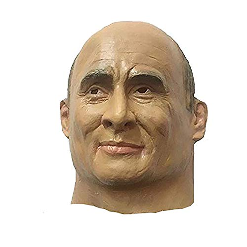 MostaShow Vladimir Putin Mask Full Head Latex Human Mask Halloween Party Costume -
