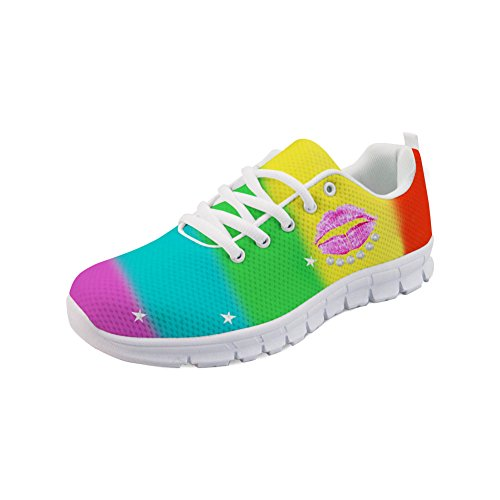 Showudesigns Running Sport Shoes Women's Fashion Sneakers Outdoor Walking Shoes Color 2 QNXb0