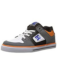 DC Boys Pure Elastic Grey Blue White Shoes Size