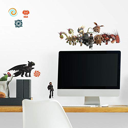 RoomMates How To Train Your Dragon: The Hidden World Peel And Stick Wall Decals