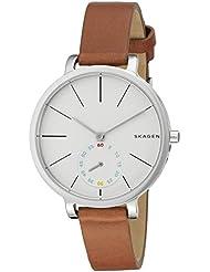 Skagen Womens SKW2434 Hagen Dark Brown Leather Watch