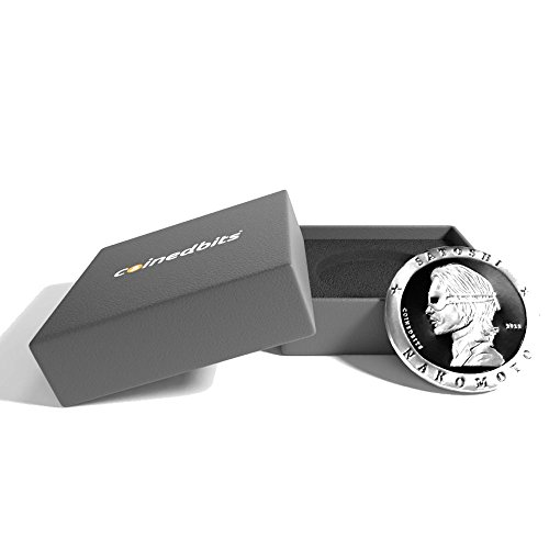 The Official Satoshi Nakamoto 3D Bitcoin Collector S Coin   Two Tone Medallion With Custom Gift Display Box By Coinedbits