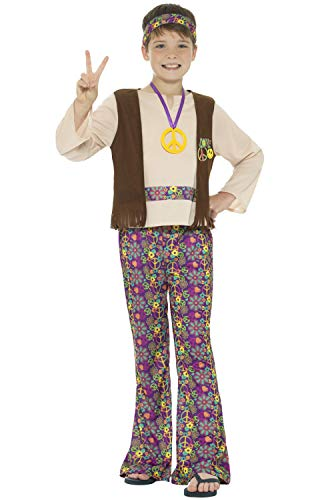 Hippie Boys Fancy Dress 60s 70s Groovy Peace Childs Childrens Kids Hippy Costume -
