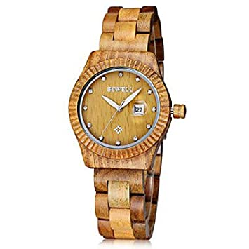 Sports watches Relojes de Hombre Hombre/Mujer/Unisex Reloj de Pulsera Cuarzo Japonés Cronógrafo Madera Banda Cosecha/Encanto Negro/Marrón/Verde/Caqui Marca- ...