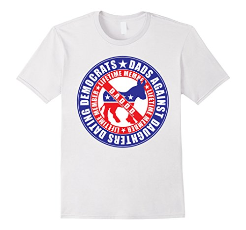 Mens Amdesco, Dads Against Daughters Dating Democrats Shirt 2XL White