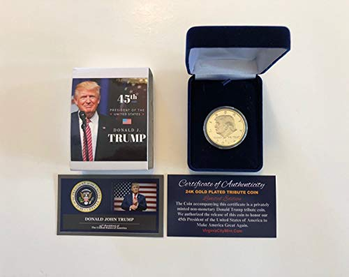 - President Donald Trump.24K Gold Overlay.2016 Commemorative Coin. in a Case