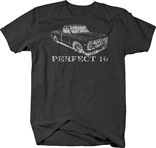 Bold Imprints Distressed - Perfect 10 Chevy C10 1967-72 Pickup Truck Tshirt - Large