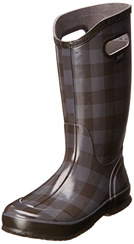 Bogs Women's Buffalo Plaid Rain Boot,Pewter,11 M US Buffalo Plaid Boot