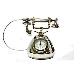 Antique Inspired Telephone Clock - Decorative Clock