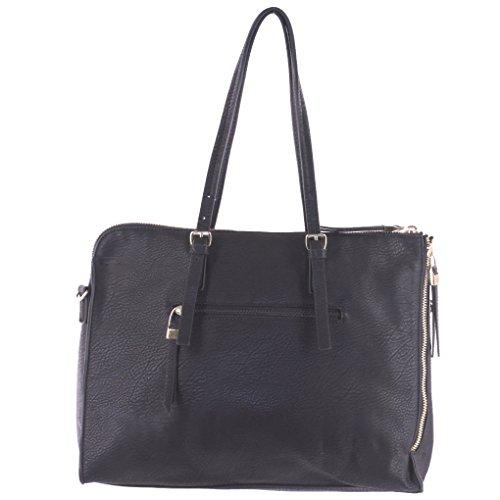 Silver Fever SF-B2301 - Bolso de tela para mujer talla única negro