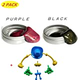 HONGCI 2Pcs New Super Magnetic Putty -Super Magnetic Crazy Playdough Magnetic Creative Toy for Boys, Girls, Children's Prizes-50g(Purple+Black)