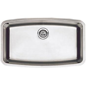 Blanco 440104 Performa Super Single Bowl Undermount Kitchen Sink, Satin  Polished Finish