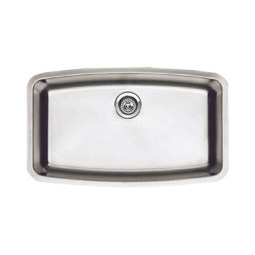 - Blanco 440104 Performa Super Single Bowl Undermount Kitchen Sink, Satin Polished Finish