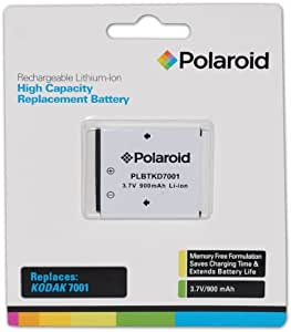Polaroid High Capacity Kodak 7001 Rechargeable Lithium Replacement Battery (Compatible With: Kodak M320, M340, M341, M1073, M1063, M893, M863, M853, M763, M753, V705,V610,V570,V550 )