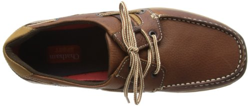 Chatham Marine Goodison - Zapatillas de vela de cuero para hombre Marrón (Braun (Red Brown))