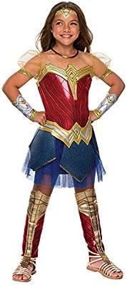 Rubies Disfraz de Wonder Woman Premium para niña - Liga de la ...