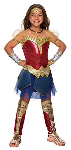 Rubie's Costume Girls Justice League Premium Wonder Costume, Medium, Multicolor