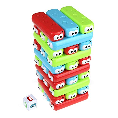 (Brightric Interactive Wooden Blocks Plastic Party Tumbling Tower Fun Toys for Kids)