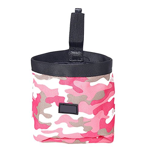 Petsmart Training Treats (Pet Dog Puppy Pouch Walking Food Treat Snack Bag Agility Bait Training Pockets Waist Storage Hold Food Container Bag Pink)
