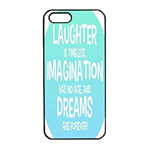 iphone 5 case,Scratch Resistant Apple iPhone 5 Case Slim Fit Painting Snap On black edge PC Back Case Cover,Laughter is Timeless